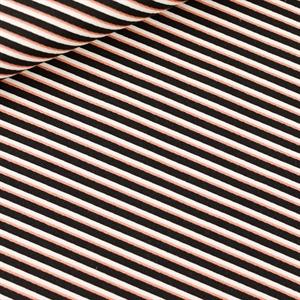 Picture of Diagonals - M - Toile de Coton Gabardine - Noir & Blanc & Cuivre