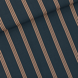 Picture of Three Lines Peach - M - Viscose Rayon - Bleu d'encre d'Inde