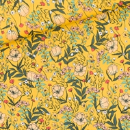 Picture of Summer Flowers - S - Lycra - Yolk Yellow